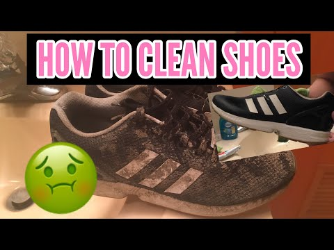 HOW TO CLEAN SHOES! (CHEAPEST/EASIEST METHOD)