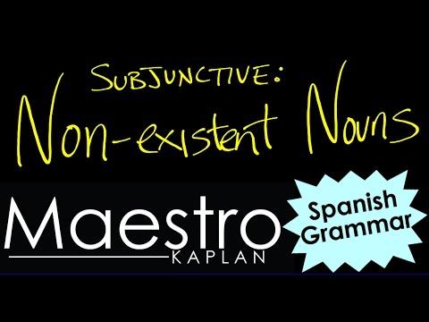 Subjunctive: Relative Clauses Describing Non-Existent Nouns