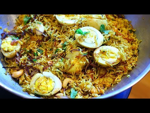 Easy Egg Biryani  In Pressure Cooker with english translation (in description box)