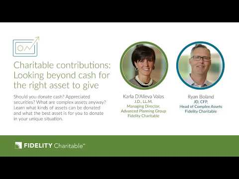 Charitable contributions: Looking beyond cash for the right asset to give