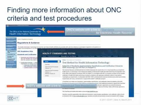 EHR Alternative Certification and CCHIT EACH Program