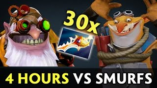 4 hours game vs smurfs — 500,000 damage by Techies