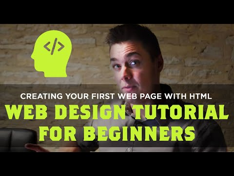 Creating Your first Web Page with HTML – Web Design Tutorial for Beginners
