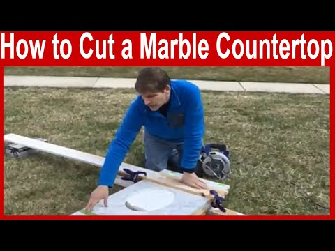 How to Cut a Marble Countertop