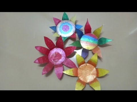 DIY : Flowers made out of paper cups