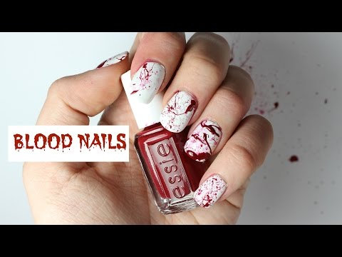 Quick and Easy Blood Splatter Nails | Viki Nailbeauty