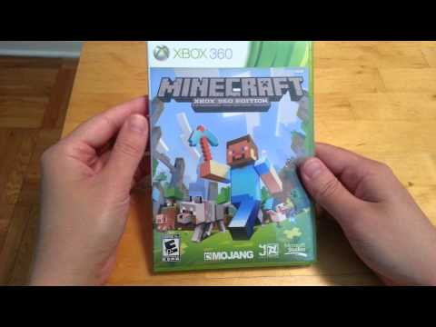 Minecraft Xbox 360 edition unboxing disc version