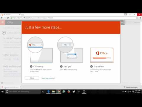 How to Activate and Install a Medialess Copy of Office 2016 or Office 365