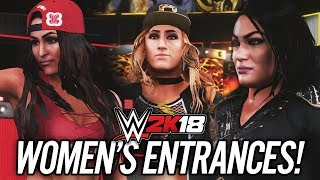 WWE 2K18 - ALL WOMENS ENTRANCES!!