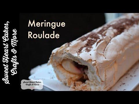 Chocolate & Raspberry Meringue Roulade Recipe Tutorial