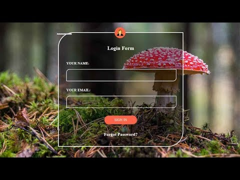 Transparent HTML Login Form with Animated Button