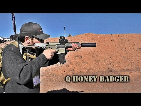 Q Honey Badger w/ Kevin Brittingham (SHOT Show 2017 Range Day)