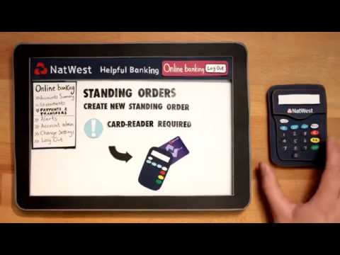 NatWest, How to set up a standing order