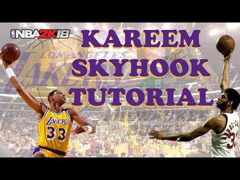 NBA 2K18 Kareem Abdul-Jabbar Signature Move Skyhook Tutorial Gameplay PS4