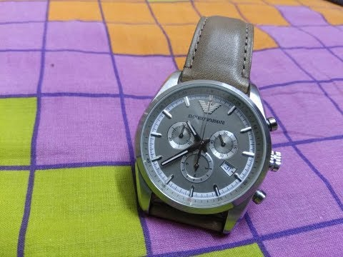 How to set date,time and stop watch in Emporio Armani chronograph 3 eye model