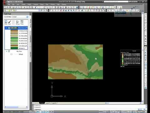 AutoCAD Map 3D - Creating Contours From a DEM File.mp4