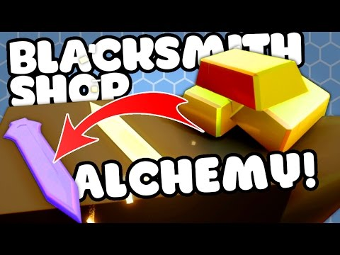 TURNING COPPER INTO TITANIUM! - My Little Blacksmith Shop Alpha Gameplay Cheats