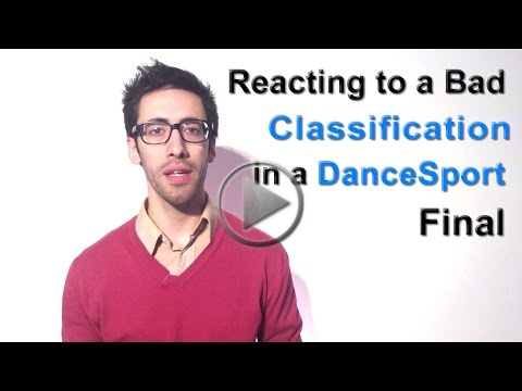 Reacting to a Single Bad Classification in a DanceSport Final - Mental Coach Psychology for Ballroom