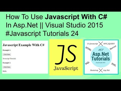 How to use javascript with c# example in asp.net || visual studio 2015 #javascript tutorials 24