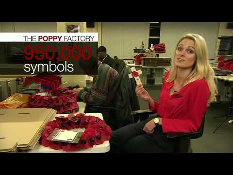 Ever wondered how poppies are made for Remembrance Day?
