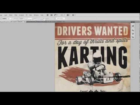 Vintage typografi plakat i Photoshop