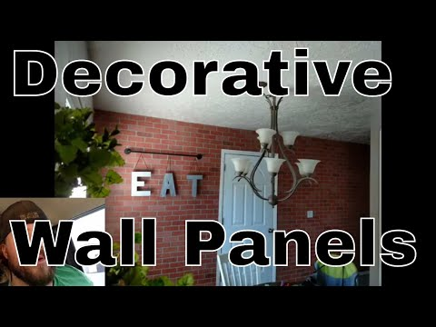 Accent wall ideas. How to install decorative wall panels.