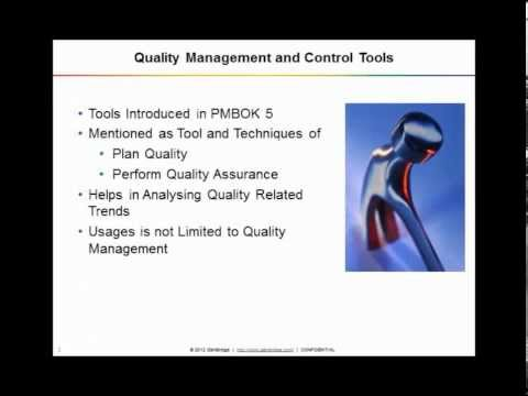 PMP | Webinar on Quality Management and Control Tools | PMBOK 5 | iZenBridge