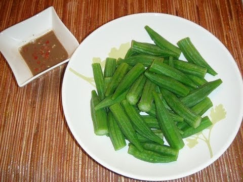 PINOY RECIPE - EASY AND UNIQUE SALAD RECIPE [OKRA SALAD WITH BAGOONG]