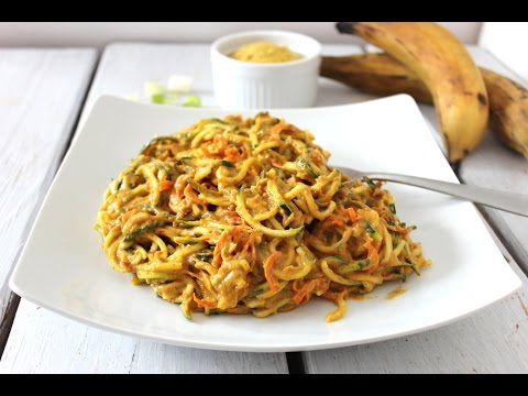 Easy dinner recipe - Vegetable pasta with dairy-free creamy sauce. Gluten-free.