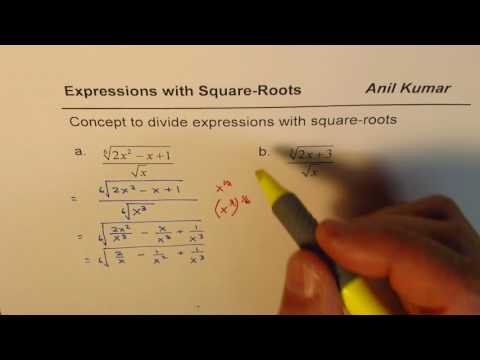 How to divided cube root expression with square root
