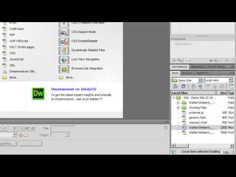 Using Dreamweaver to Convert Word Documents to HTML