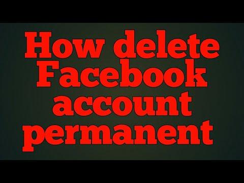 How delete Facebook account permanent
