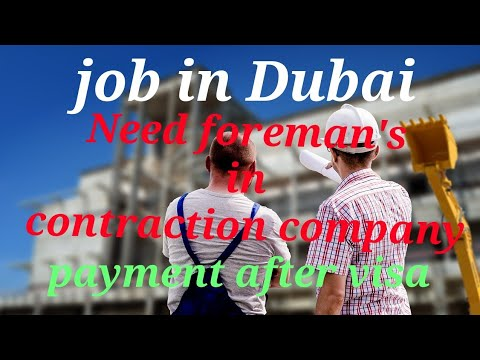 Job in Dubai latest update 2018 by Ak&sons job's consultancy no advance payment after visa