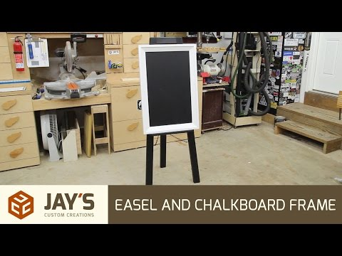 Easel and Chalkboard Frame - 255