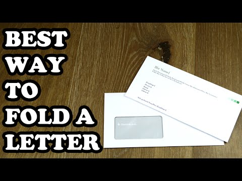 How To Fold A Letter Into A Window Envelope | A4 letter for a windowed DL envelope