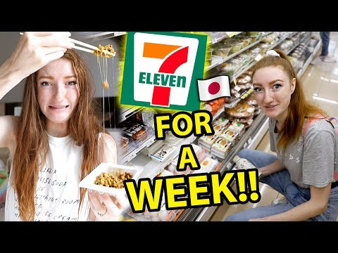 Xxx Mp4 I ONLY ATE FOOD FROM 7 ELEVEN IN JAPAN FOR A WEEK Convenience Store Challenge In Tokyo 2019 3gp Sex