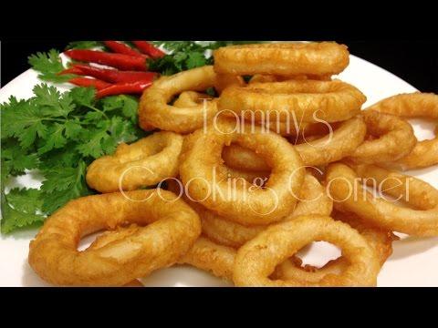 Muc Chien Gion - Fried Calamari Rings - Mực Chiên Xù