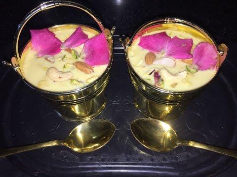 Rabri with a twist of custard recipe in hindi - Festival special rabdi - Malai rabri - Sweet dish