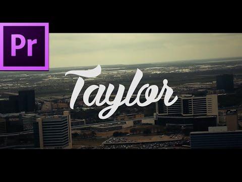 Simplistic Intro - Premiere Pro Tutorial + Free Template Download