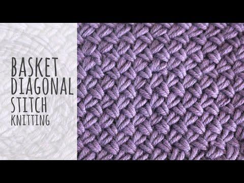 Knitting Stitches Gallery: Basket Diagonal Stitch