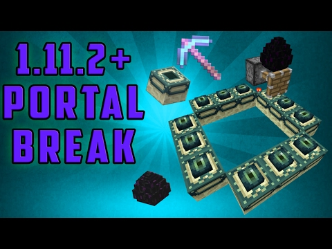 Minecraft 1.11/1.12.2+ Break the End Portal Frame - [Super Simple] [Single Player]