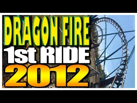Dragon Fire On-Ride POV 2012 GoPro Hero2 1080 HD