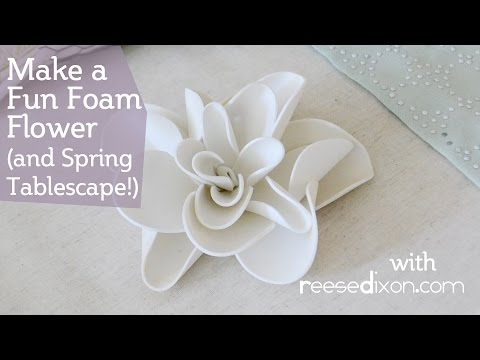 Fun Foam Flowers - Perfect for an Easter Centerpiece!