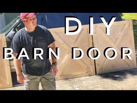 DIY how to build a barn door