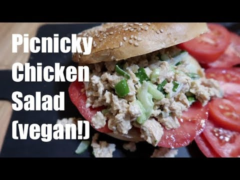 Picnicky Chicken Salad (vegan!) #summersaladseries