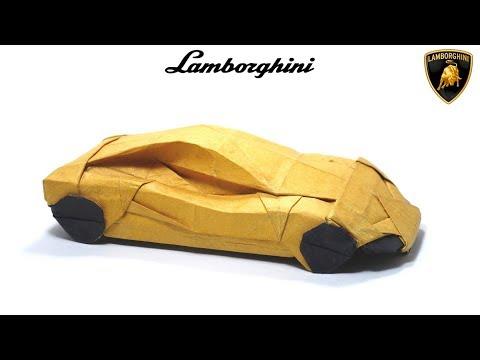ORIGAMI LAMBORGHINI TUTORIAL (Im Young Gwang) 折り紙 スポーツカー  SPORT CAR Automobile  Cabriolet
