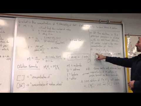 Molarity Calculations with Dilution