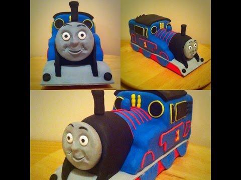3D Thomas the tank engine cake.