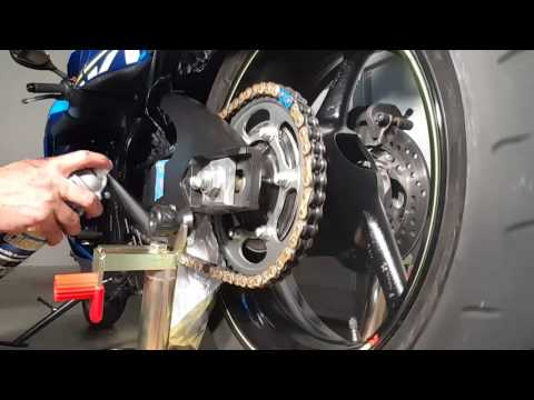2015 Suzuki gsxr 750. Every 600 miles chain cleaning.
