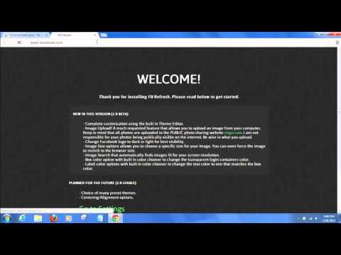 Facebook How To Change Your Background Of Your Facebook Login Page   Free  Easy